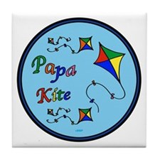 Papa Kite Tile Coaster