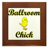 Ballroom Chick Framed Tile