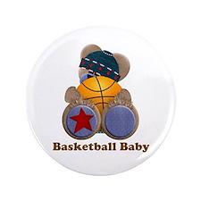 "Customizable Basketball Bear 3.5"" Button"