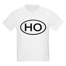 HO - Initial Oval Kids T-Shirt