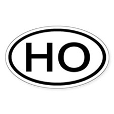 HO - Initial Oval Oval Decal