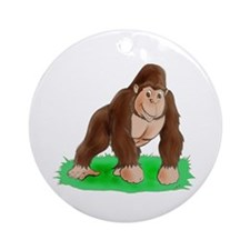 Happy Gorilla Ornament (Round)
