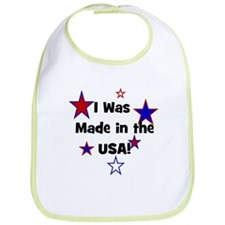 I Was Made in the USA! Bib