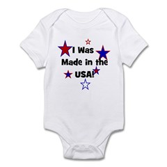 I Was Made in the USA! Infant Creeper