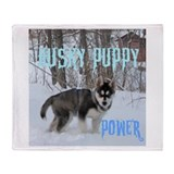 Husky puppy Throw Blanket