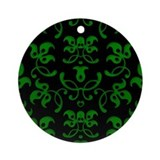 Fancy Green Vines Ornament (Round)