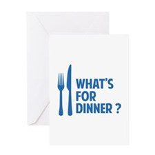 What's for dinner ? Greeting Card