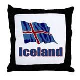 Iceland Flag 1 Throw Pillow