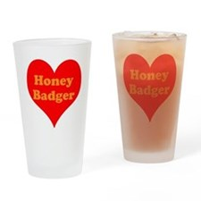 Love Honey Badger Drinking Glass