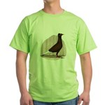 Flying Flight Red Pigeon Green T-Shirt