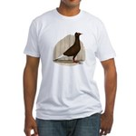Flying Flight Red Pigeon Fitted T-Shirt