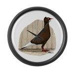 Flying Flight Red Pigeon Large Wall Clock