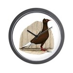 Flying Flight Red Pigeon Wall Clock