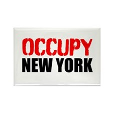 OCCUPY NEW YORK Rectangle Magnet