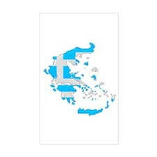 """Pixel Greece"" Rectangle Decal"