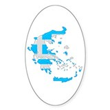 &quot;Pixel Greece&quot; Oval Decal