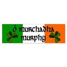 Murphy in Irish & English Bumper Bumper Sticker