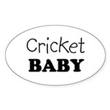Cricket baby Oval Decal