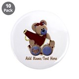 "Teddy Chearleader 3.5"" Button (10 pack)"