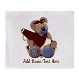 Teddy Chearleader Throw Blanket