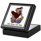 Teddy Chearleader Keepsake Box
