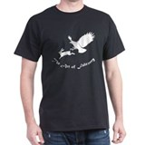 Art of Falconry - Redtail hawk Black T-Shirt