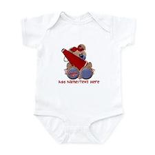 Teddy Cheerleader (red) Infant Bodysuit
