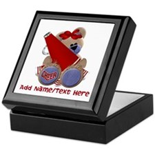 Teddy Cheerleader (red) Keepsake Box