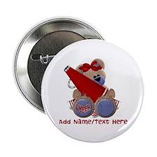 """Teddy Cheerleader (red) 2.25"""" Button"""