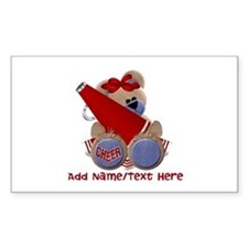 Teddy Cheerleader (red) Decal