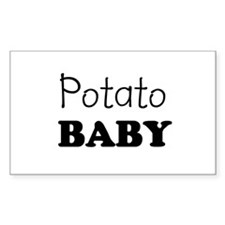 Potato baby Rectangle Decal