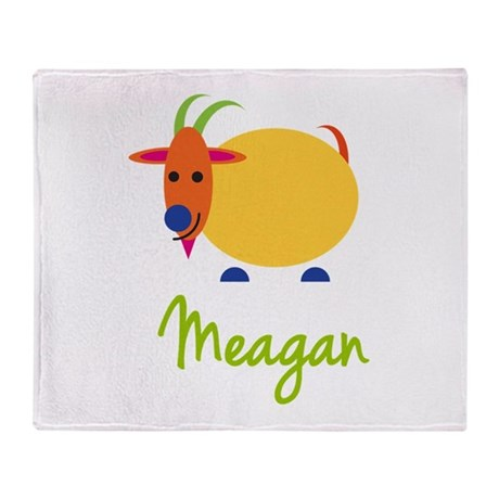 Meagan The Capricorn Goat Throw Blanket