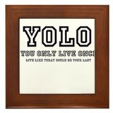 YOLO (You Only Live Once) Framed Tile