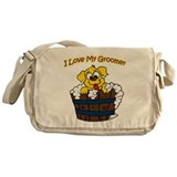 I Love My Groomer Messenger Bag