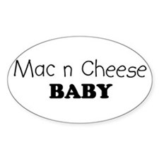 Mac n Cheese baby Oval Stickers