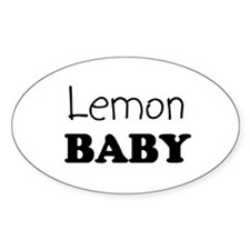 Lemon baby Oval Decal