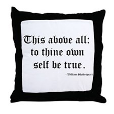 Shakespeare Throw Pillow