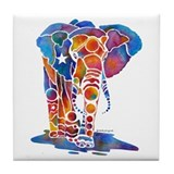 Whimzical Emma Elephant Tile Coaster