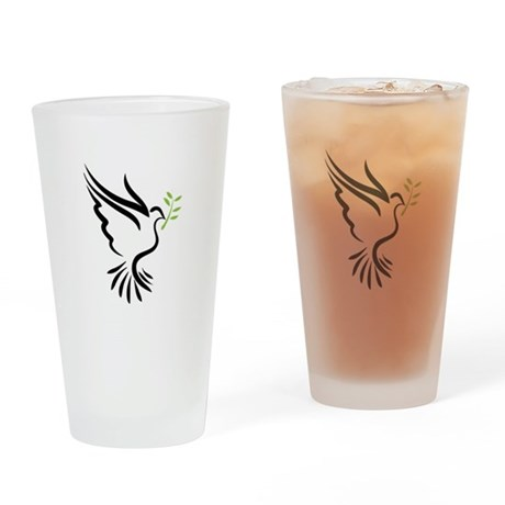 Dove Drinking Glass