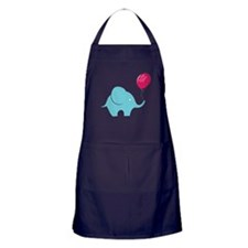 Elephant with balloon Apron (dark)