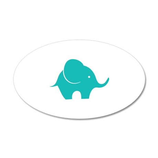 Elephant with balloon 22x14 Oval Wall Peel