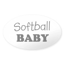 Softball baby Oval Decal