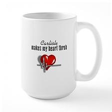 Carlisle makes my heart throb Large Mug