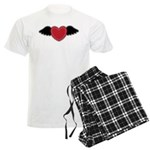 Winged Heart Couples Men's Light Pajamas