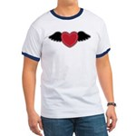 Winged Heart Couples Ringer T