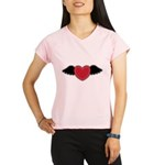 Winged Heart Couples Performance Dry T-Shirt