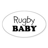 Rugby baby Oval Decal