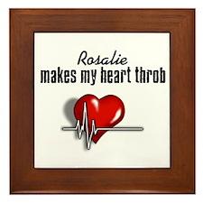 Rosalie makes my heart throb Framed Tile