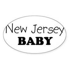 New Jersey baby Oval Decal