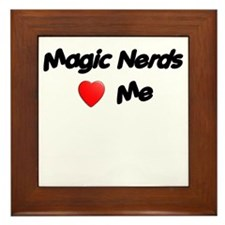 Magic Nerds (heart) Me Framed Tile